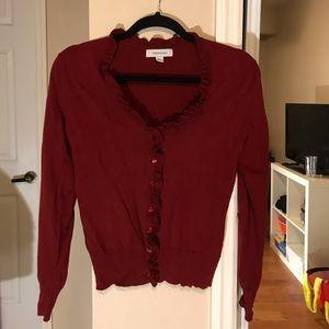 Merona red cardigan